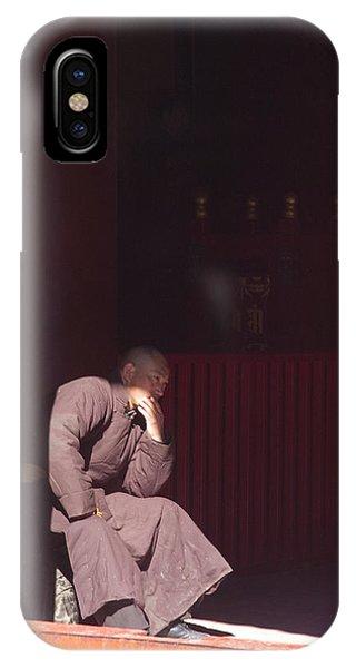 Thinking Monk IPhone Case