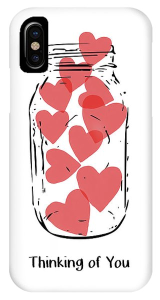 Thinking Of You Jar Of Hearts- Art By Linda Woods IPhone Case