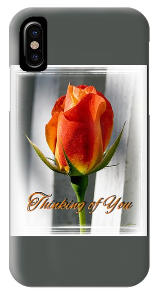 Thinking Of You, Rose IPhone Case