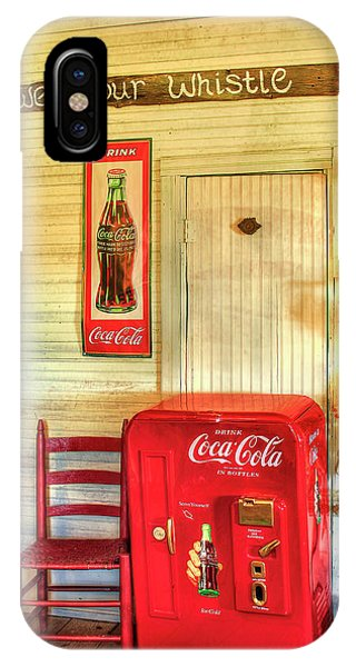 Thirst-quencher Old Coke Machine IPhone Case