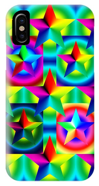 Thirteen Stars With Ring Gradients IPhone Case