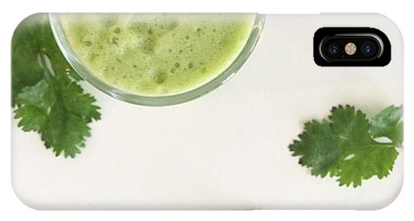 Music iPhone Case - This Cilantro-green Apple Mocktail Is by E M I L Y  B U R T O N