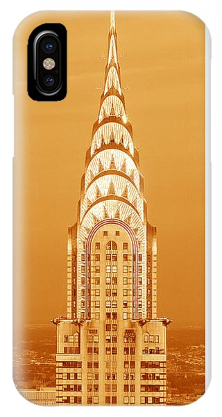 Chrysler Building iPhone Case - Chrysler Building At Sunset by Panoramic Images