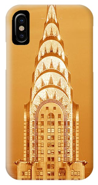 Building iPhone Case - Chrysler Building At Sunset by Panoramic Images