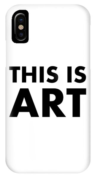 IPhone Case featuring the digital art This Is Art by Richard Reeve