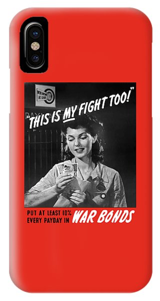 Factory iPhone Case - This Is My Fight Too - Ww2 by War Is Hell Store