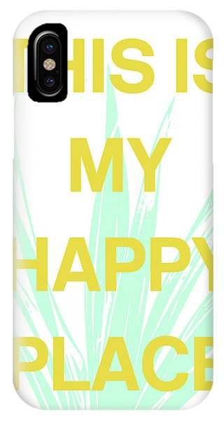 Aqua iPhone Case - This Is My Happy Place- Art By Linda Woods by Linda Woods