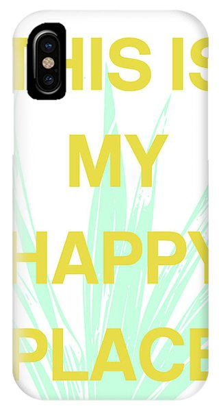 Mustard iPhone Case - This Is My Happy Place- Art By Linda Woods by Linda Woods