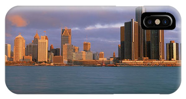 Renaissance Center iPhone Case - This Is The Skyline And Renaissance by Panoramic Images