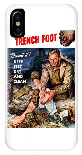 World War Two iPhone Case - This Is Trench Foot - Prevent It by War Is Hell Store