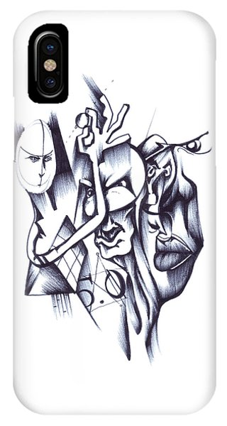 IPhone Case featuring the drawing This by Keith A Link