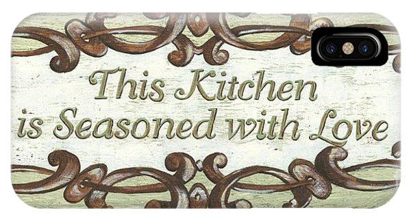 Grace iPhone X Case - This Kitchen by Debbie DeWitt