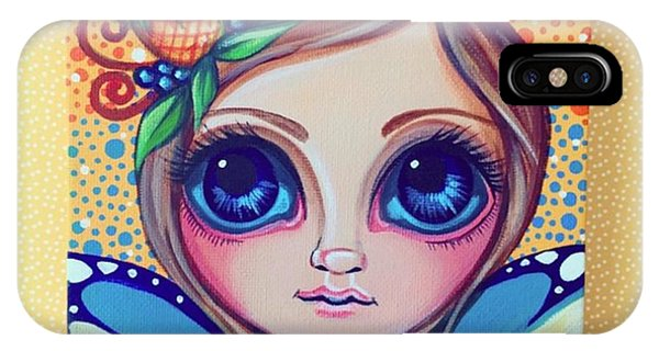 Fantasy iPhone Case - This Little Faery Cutie Today Flew Into by Jaz Higgins
