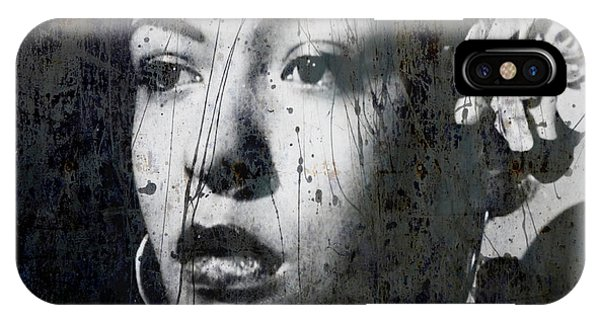 Rhythm And Blues iPhone X / XS Case - This Ole Devil Called Love  by Paul Lovering