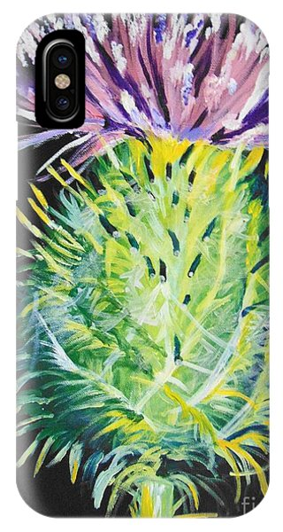 IPhone Case featuring the painting Thistle by Saundra Johnson