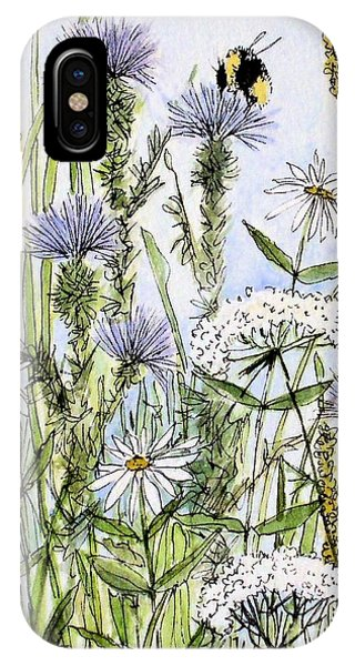 Thistles Daisies And Wildflowers IPhone Case