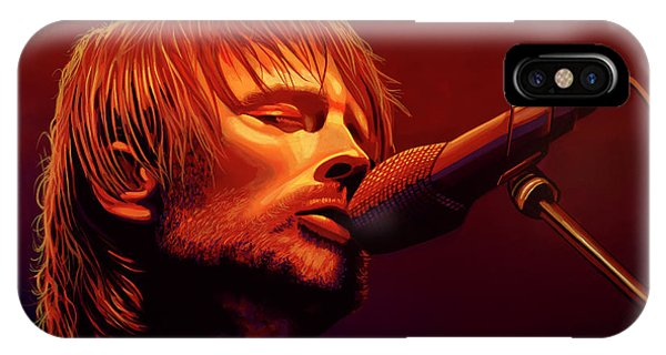 Drum iPhone Case - Thom Yorke Of Radiohead by Paul Meijering