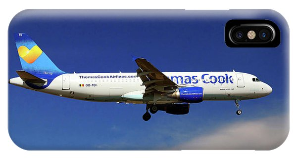 Airline iPhone Case - Thomas Cook Airlines Airbus A320-214 by Smart Aviation