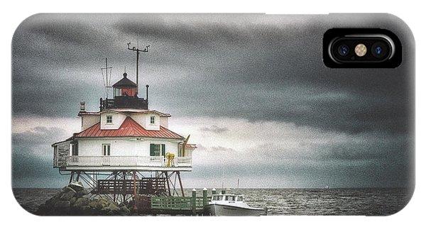 Chesapeake Bay iPhone X Case - Thomas Point Shoal  by Robert Fawcett