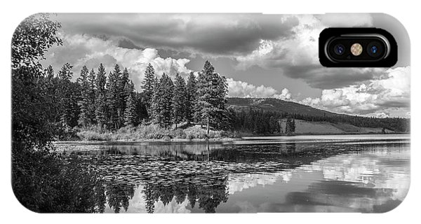 Thompson Lake In Black And White IPhone Case
