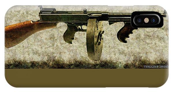Thompson Submachine Gun 1921 IPhone Case
