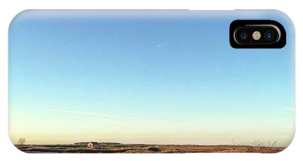 Sky iPhone Case - Thornham Marsh Lit By The Setting Sun by John Edwards