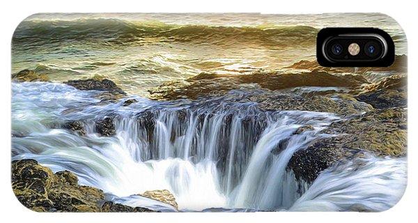 Thor's Well - Oregon Coast IPhone Case