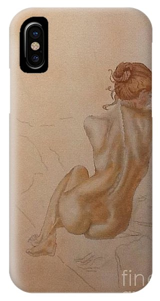 Thoughtful Nude Lady IPhone Case