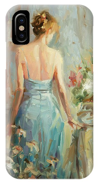 Abstract Figurative iPhone Case - Thoughtful by Steve Henderson