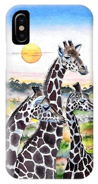 Three Giraffes    Sold IPhone Case