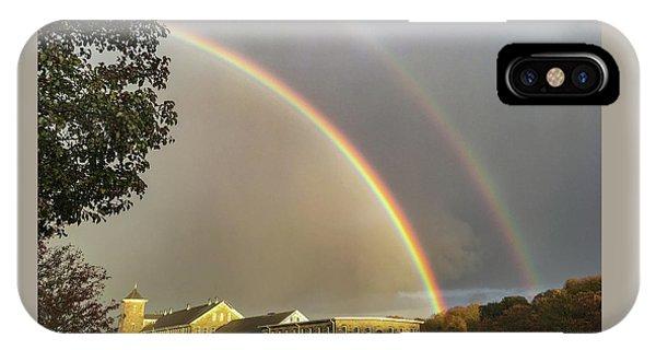 Thread City Double Rainbow  IPhone Case