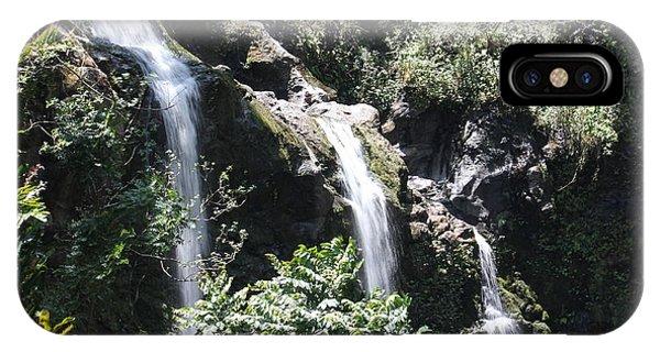 Upper Waikani Falls IPhone Case