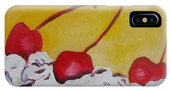 Three Cherries IPhone Case