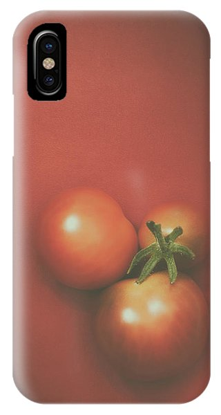 Food iPhone Case - Three Cherry Tomatoes by Scott Norris