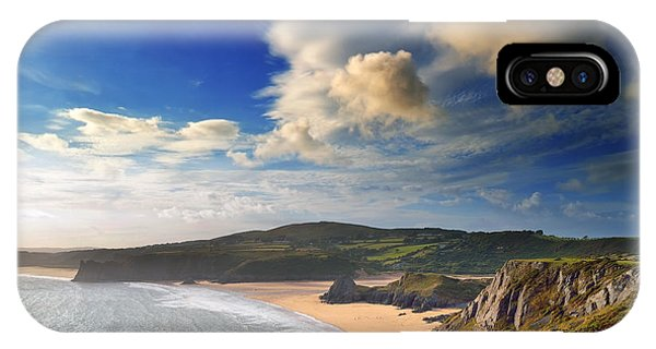 Three Cliffs Bay 1 IPhone Case