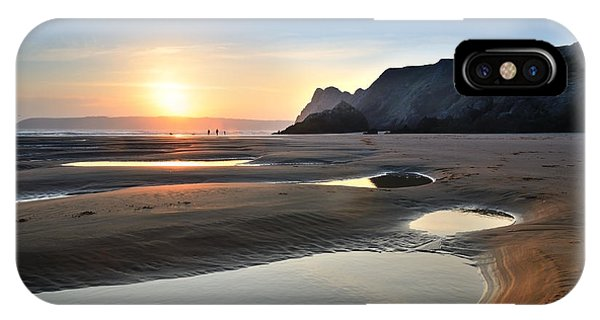 Three Cliffs Bay 2 IPhone Case