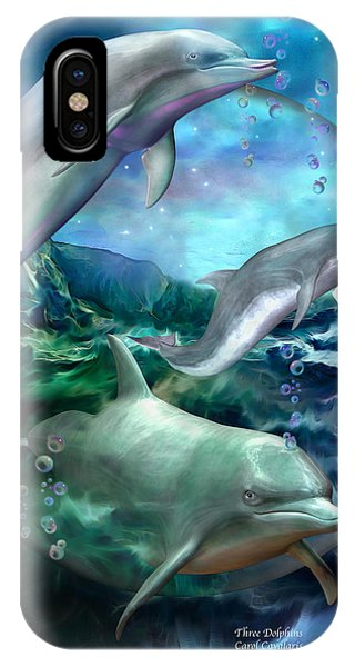 Three Dolphins IPhone Case