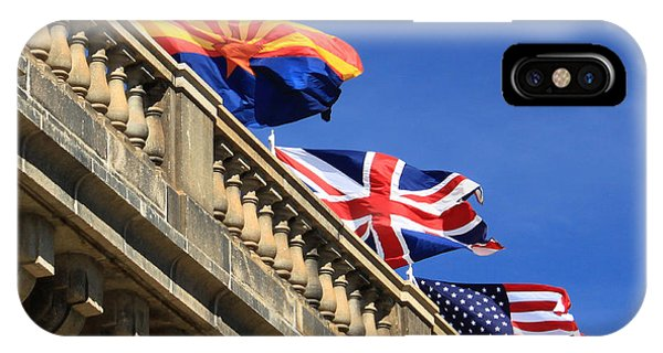 Three Flags At London Bridge IPhone Case