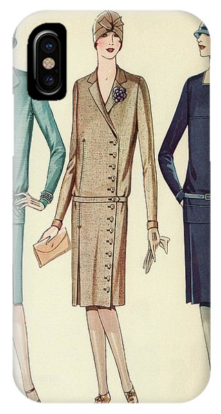 Three Flappers Modelling French Designer Outfits, 1928 IPhone Case