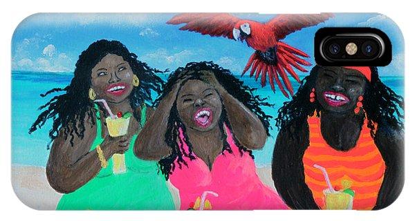 Tiki Bar iPhone Case - Three Girls In A Tiki Bar by Amy Scholten