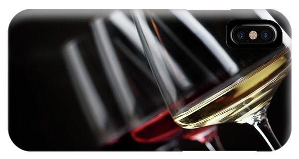 Menu iPhone Case - Three Glass Of Wine by Jelena Jovanovic