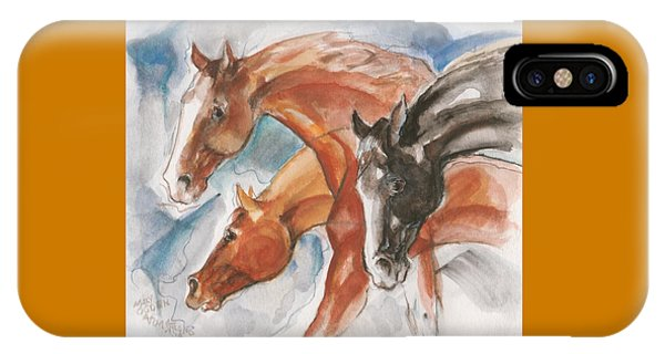 Three Horses IPhone Case