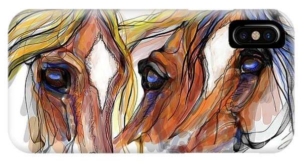 Three Horses Talking IPhone Case