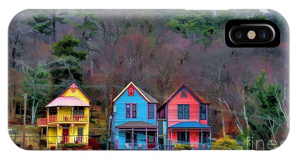 Three Houses Hot Springs Ar IPhone Case