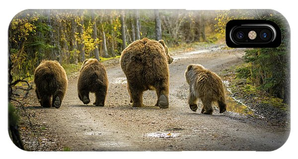 Trio iPhone Case - Bear Bums by Chad Dutson