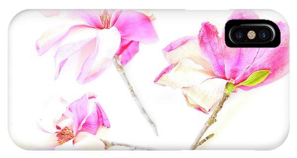 Three Magnolia Flowers IPhone Case