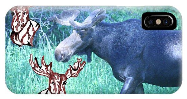 Three Moose IPhone Case