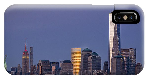 Three New York Symbols IPhone Case