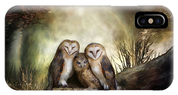 Three Owl Moon IPhone Case