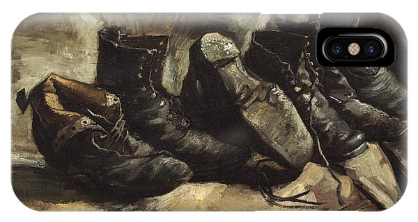 Damage iPhone Case - Three Pairs Of Shoes 1886 - 1887 by Vincent Van Gogh
